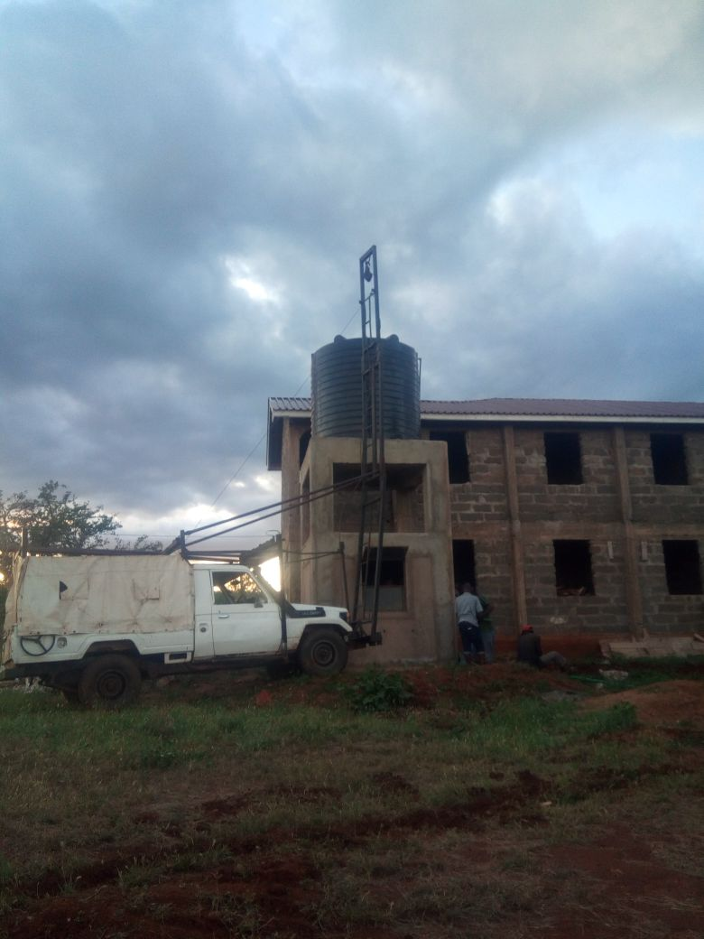 Elevated Water Tank Installed